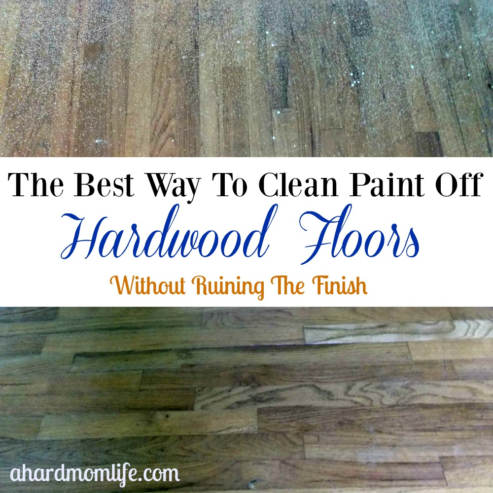 Do you have paint on your hardwood? Checkout how I got overspray off these 50 year old wood floors.
