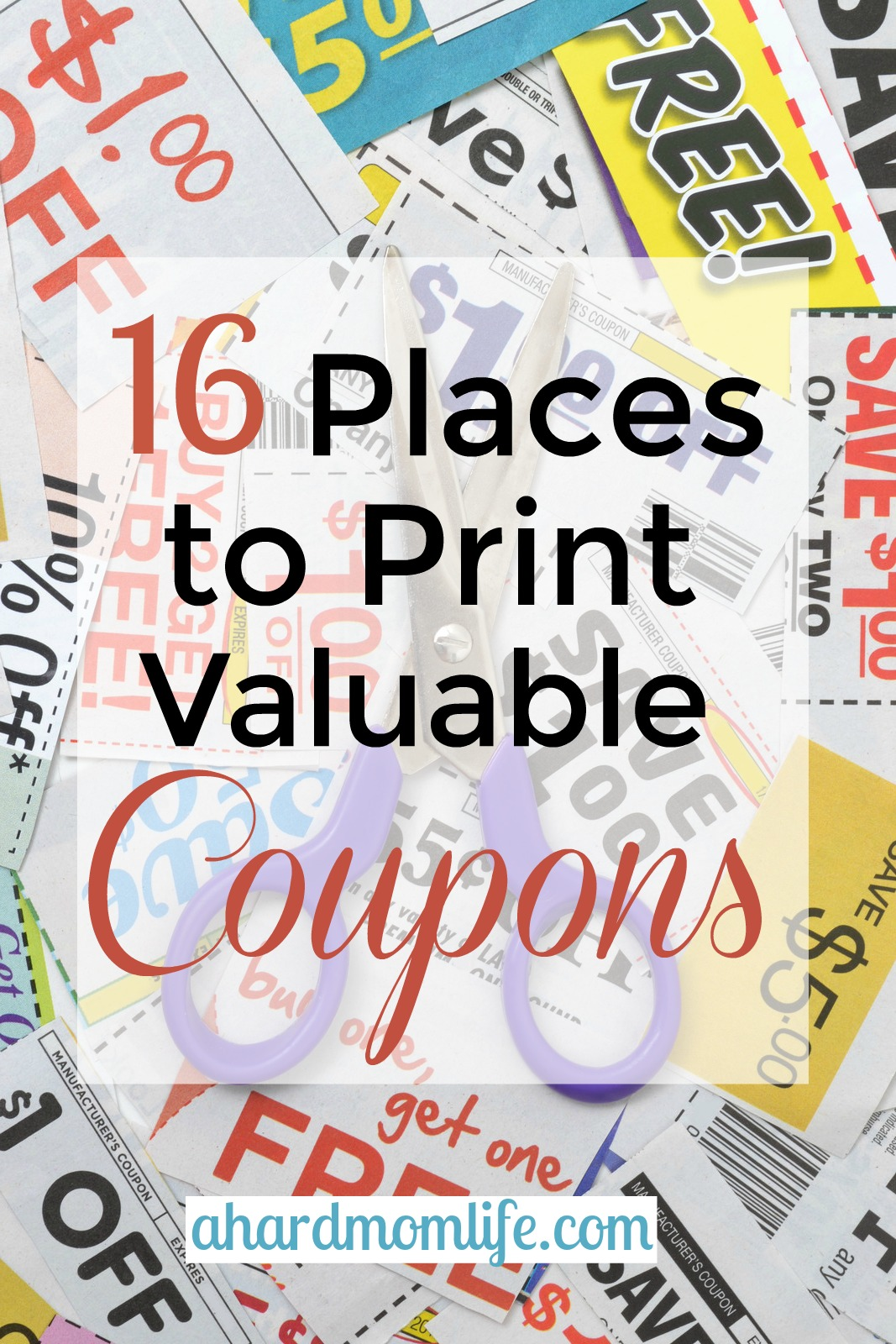 Are you a cost-conscious parent? Yeah, me too. Check out this list of 16 places to print valuable coupons for both groceries and retail purchases.