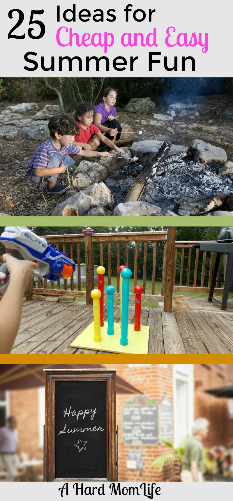 Looking to keep the kids busy without spending a lot? Budgeting during the summer can be hard. Try these 25 ideas for cheap and easy summer fun at home.