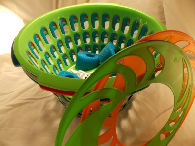 These few supplies get turned into tons of fun in this easy backyard disc golf game.