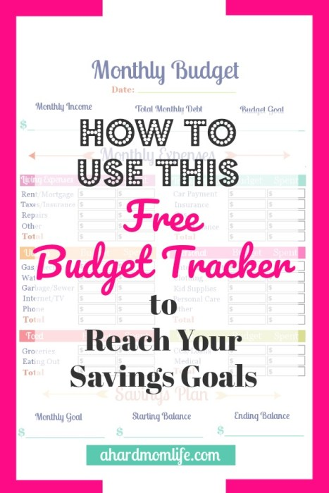 If you are serious about starting a budget, using this free budget tracker to reach your savings goals is a no-brainer.