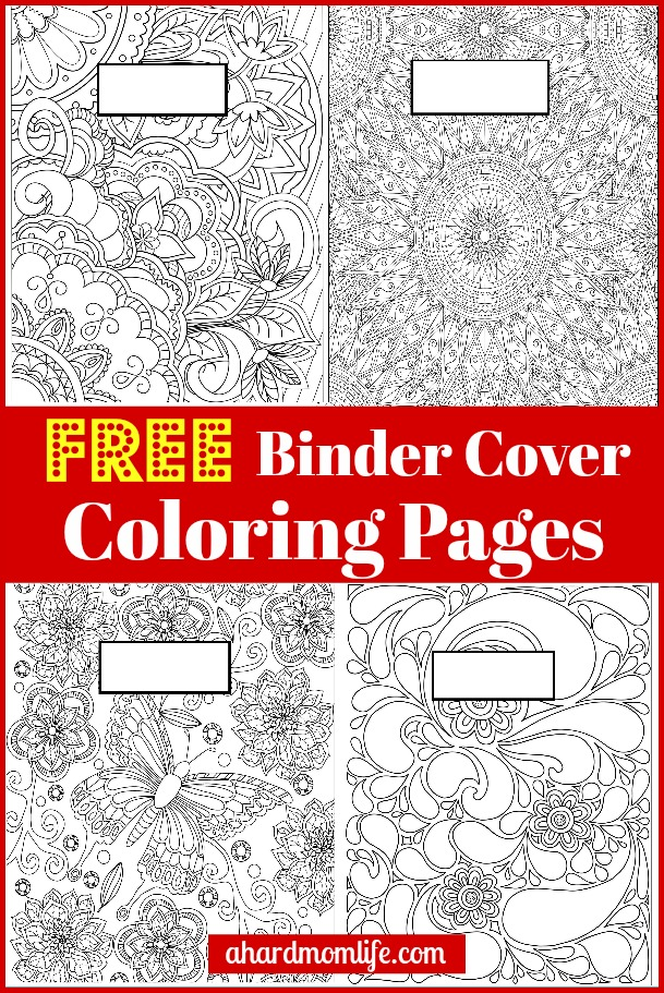 Free Binder Cover Coloring Pages