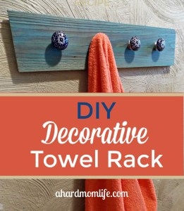 Easy DIY Decorative Towel Rack