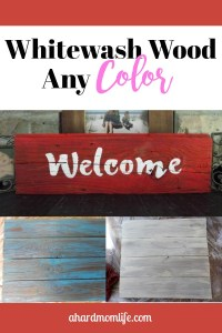 Whitewash Wood Any Color | Easy Paint Technique