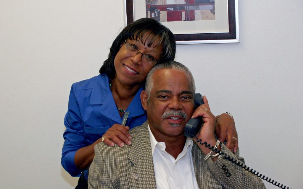 Judy and Adolphus, of Adolphus Hawkes Realtors