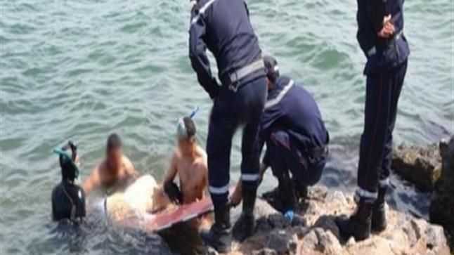 انتشال جثة صياد غرق بشاطئ إيفني في ظروف غامضة