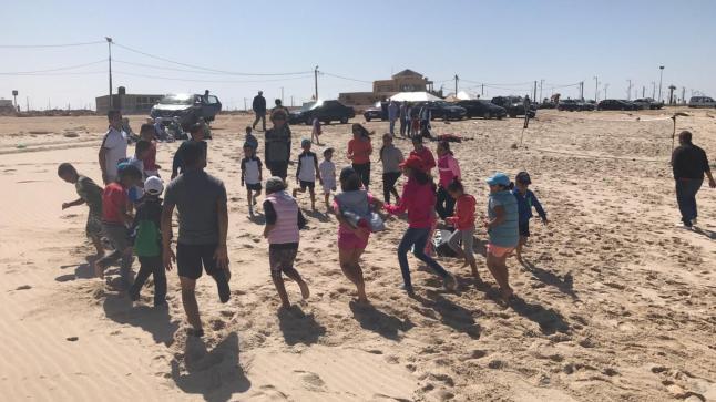 نادي الخليج الرياضي للتنس يُعطي انطلاقة تنس الشاطئ بأم لبوير بالداخلة
