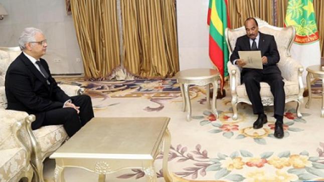 بركة يسلم رئيس موريتانيا رسالة خطية من الملك