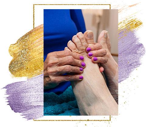 Roberta Millard healing with foot reflexology