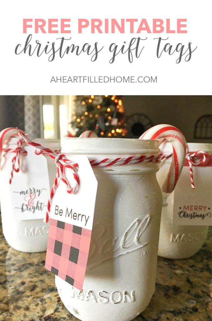 Free Printable Christmas Gift Tags from aheartfilledhome.com