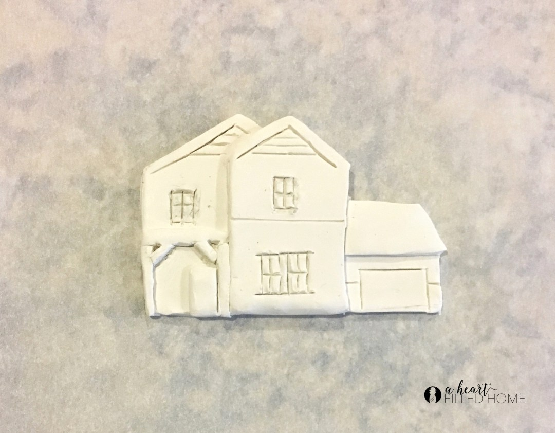 DIY Clay House Christmas Ornament from A Heart Filled Home. Click thru for the Tutorial.
