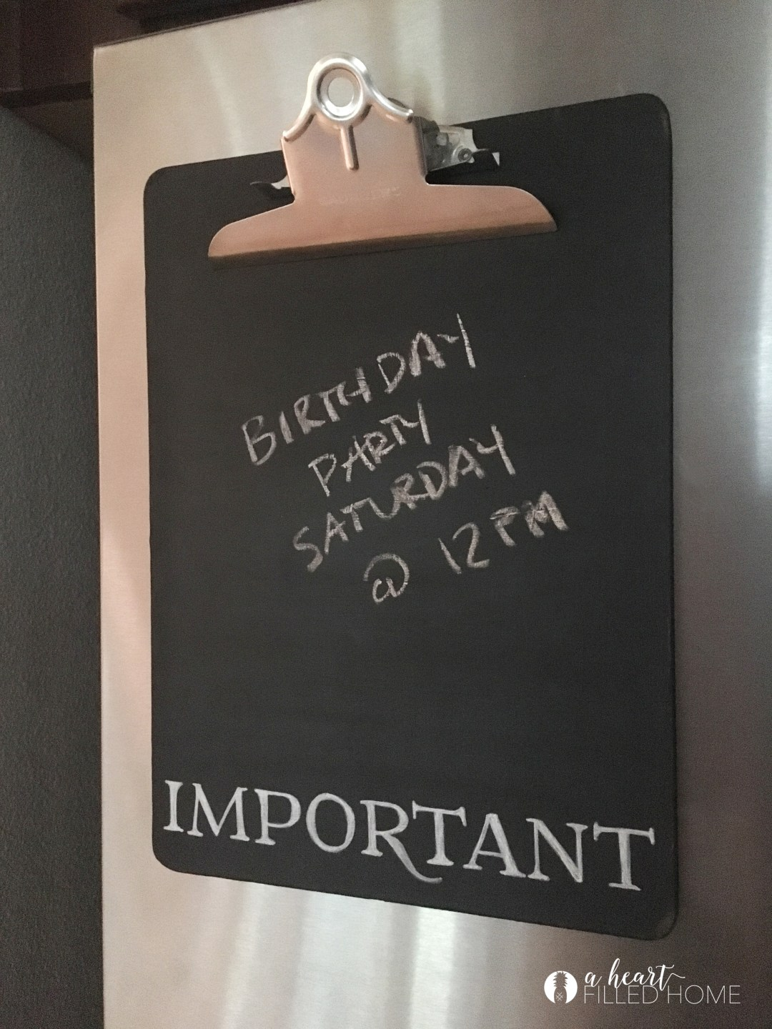 DIY Re-Purposed Clipboard Chalkboard. Click to get the simple tutorial! aheartfilledhome.com