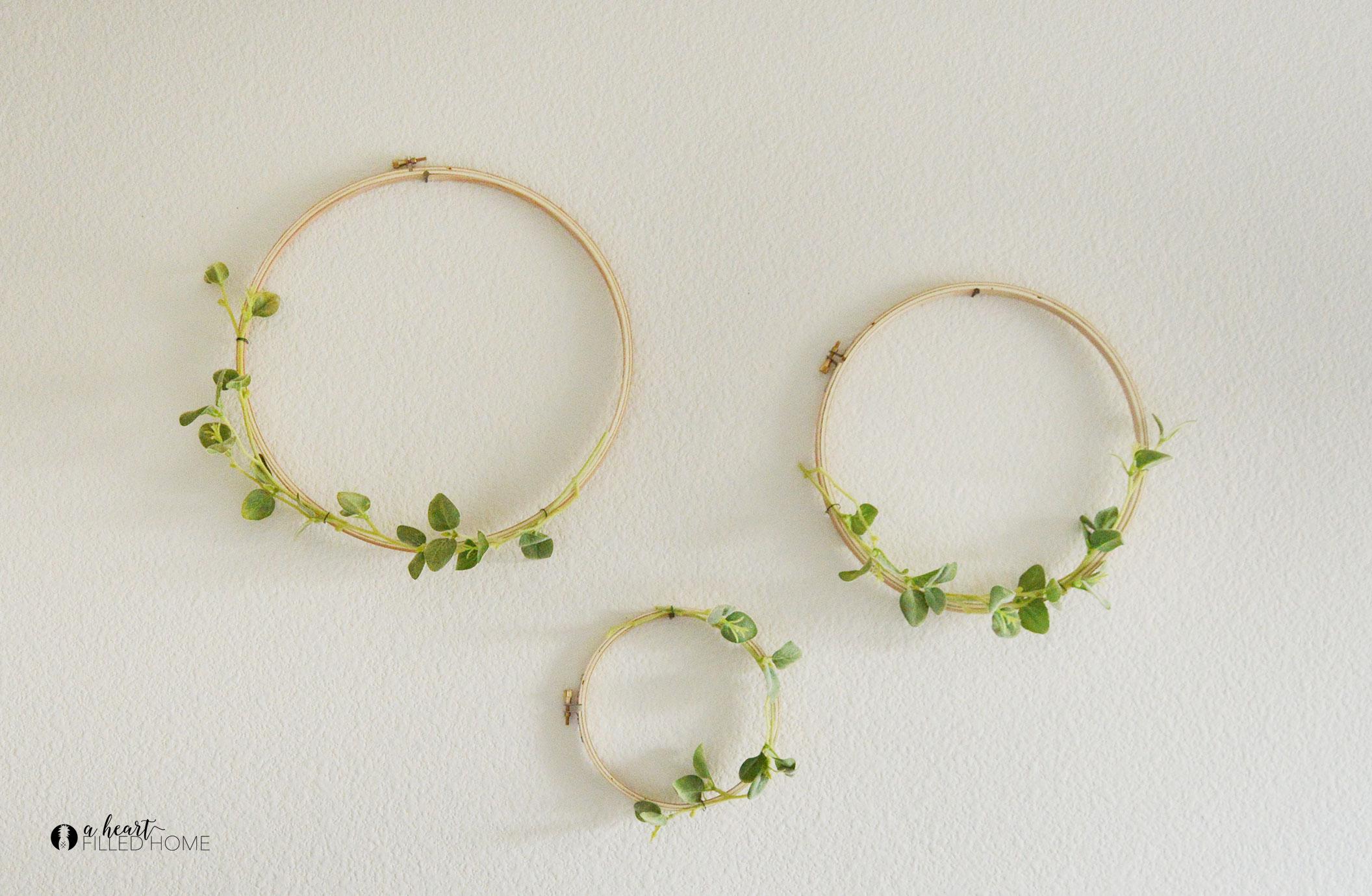 Easy DIY Hoop Wreath A Heart Filled Home DIY Home