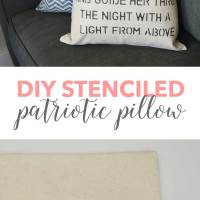 DIY Patriotic Stenciled Pillow Cover