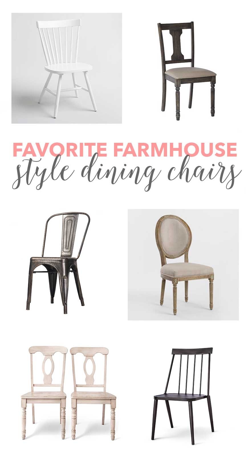 A fantastic resource for some beautiful farmhouse dining chairs!