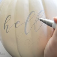 Easy DIY Hand Lettered Pumpkin