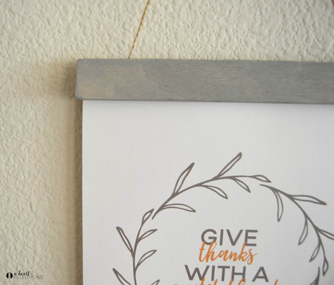 DIY Art Display with a Free Fall Printable! from aheartfilledhome.com