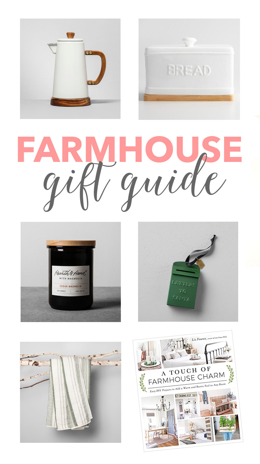 The perfect Farmhouse Gift Guide - great for any budget!