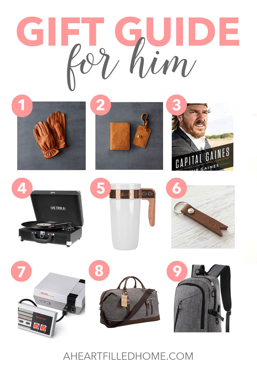 This Holiday Gift Guide for Him has some great gift ideas! from aheartfilledhome.com