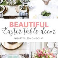 Beautiful Easter Table Decor