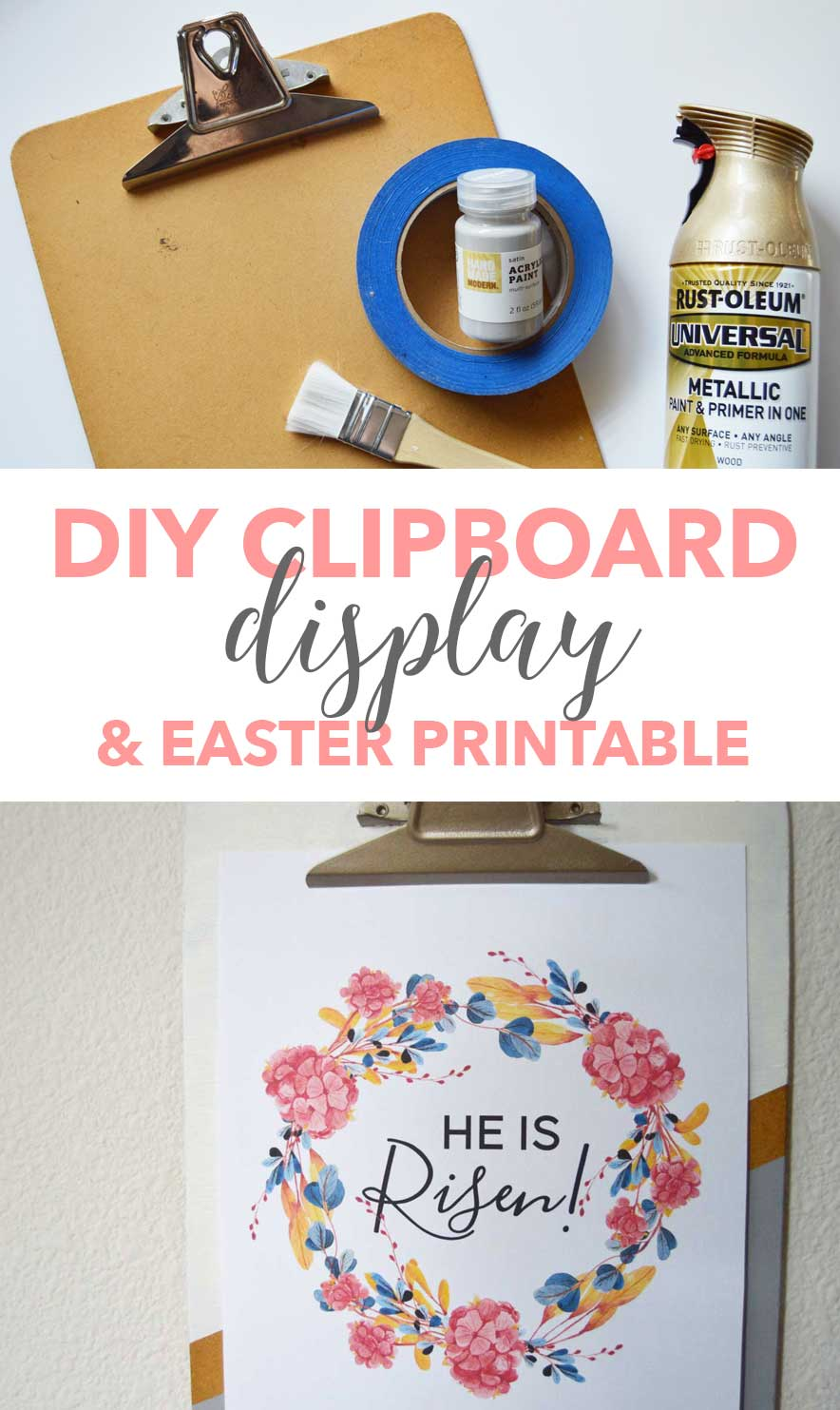 DIY Clipboard Display and Easter Printable