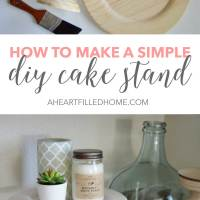 How To Make A Simple DIY Cake Stand