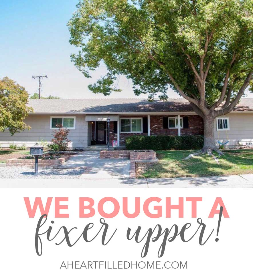 We bought a fixer upper!
