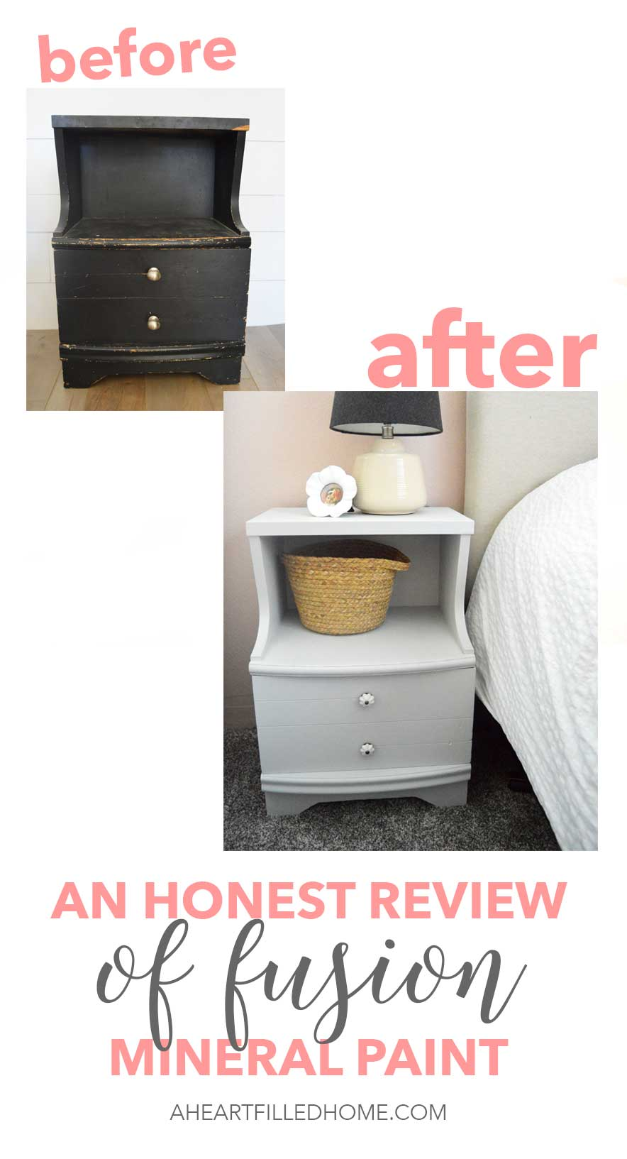 An honest review of fusion mineral paint. I transformed this side table using fusion paint and am sharing the amazing before and after!
