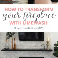 How To Transform Your Fireplace With Limewash