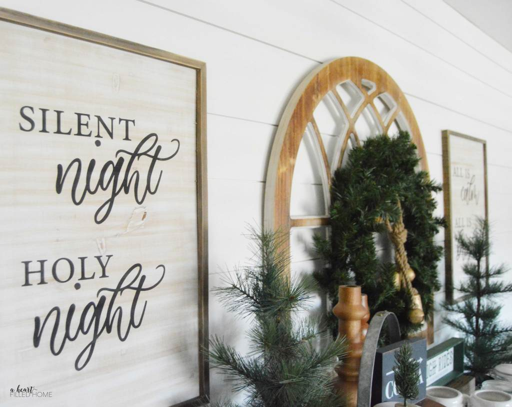 DIY Christmas Sign + Free SVG cut file + Free Christmas Printable! from A Heart Filled Home