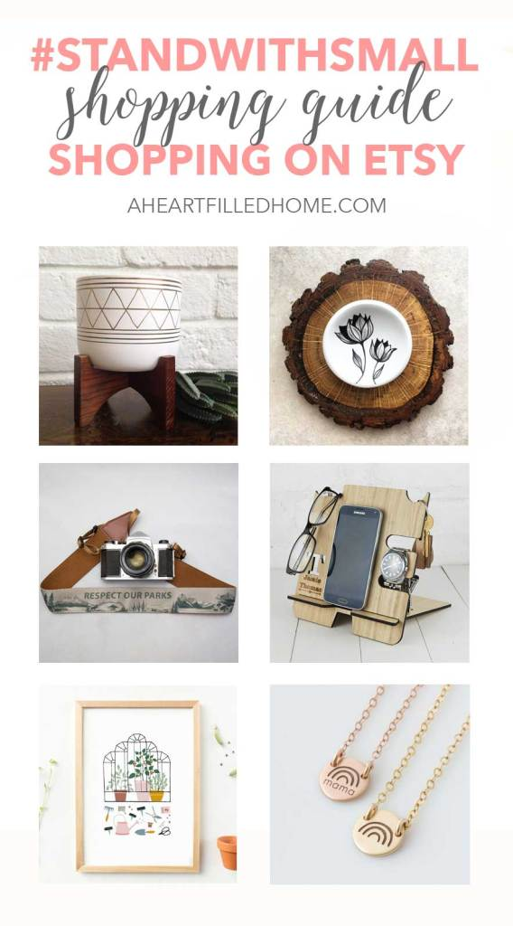 #StandWithSmall shopping guide shopping on Etsy - gift ideas from small business owners