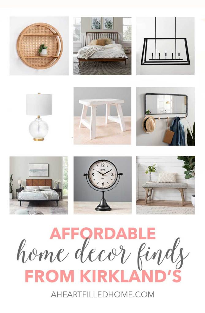 Affordable home decor finds from Kirkland's! These home decor finds from Kirkland's are budget friendly and beautiful! from A Heart Filled Home