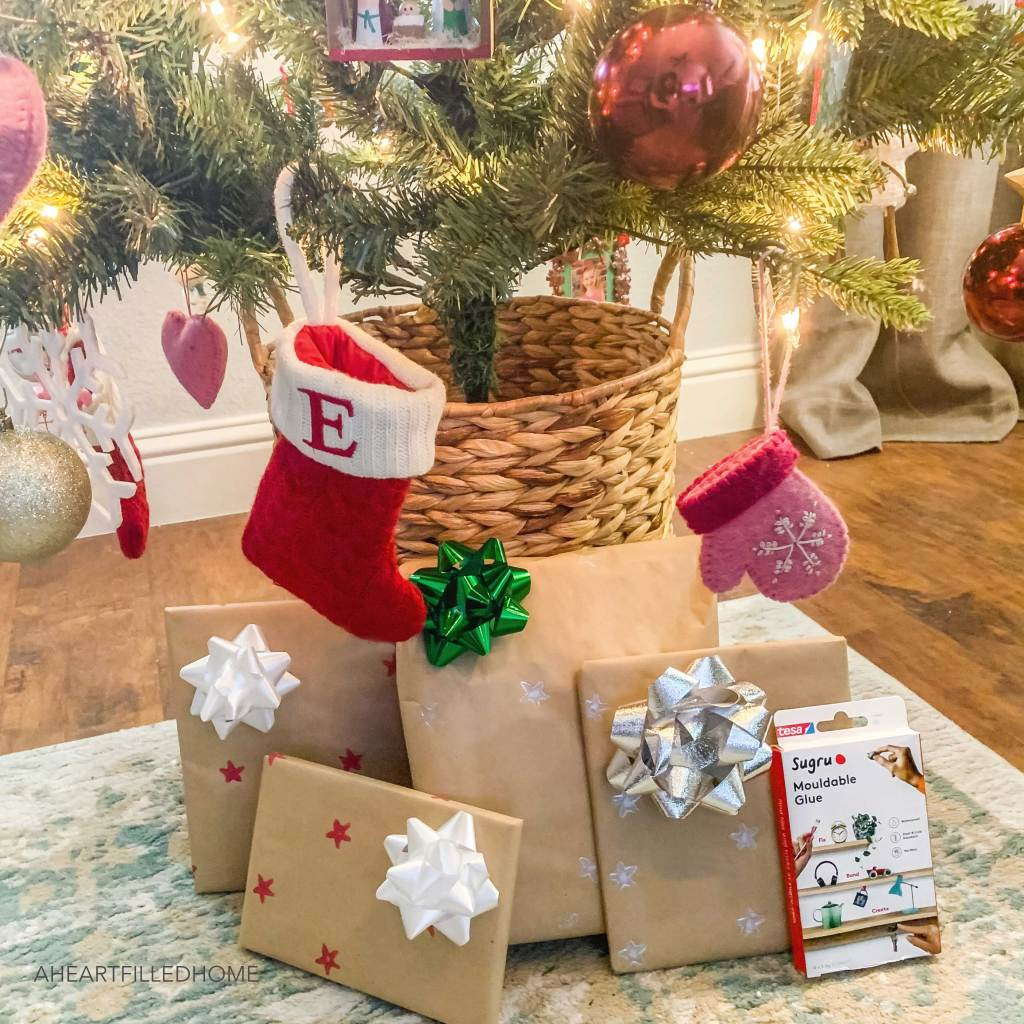 DIY holiday wrapping paper with Sugru - from A Heart Filled Home