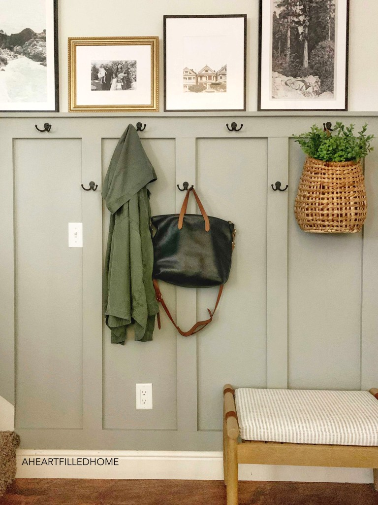 DIY board and batten entryway makeover from A Heart Filled Home