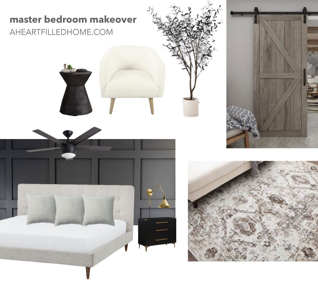 Master Bedroom Makeover Plans for the One Room Challenge from A Heart Filled Home