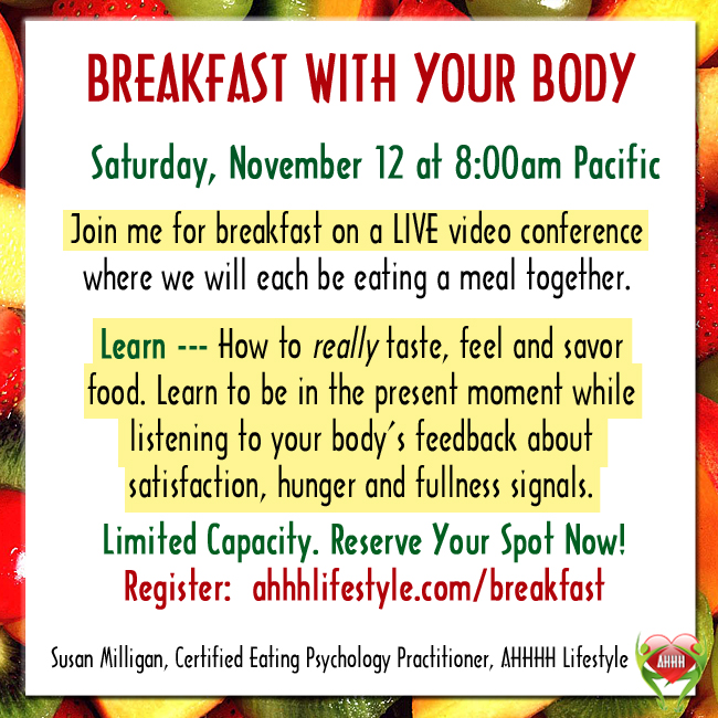 Breakfast with Your Body - AHHH Lifestyle