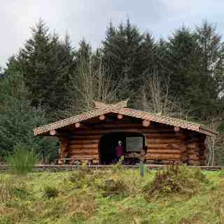 log cabin dunnet forest