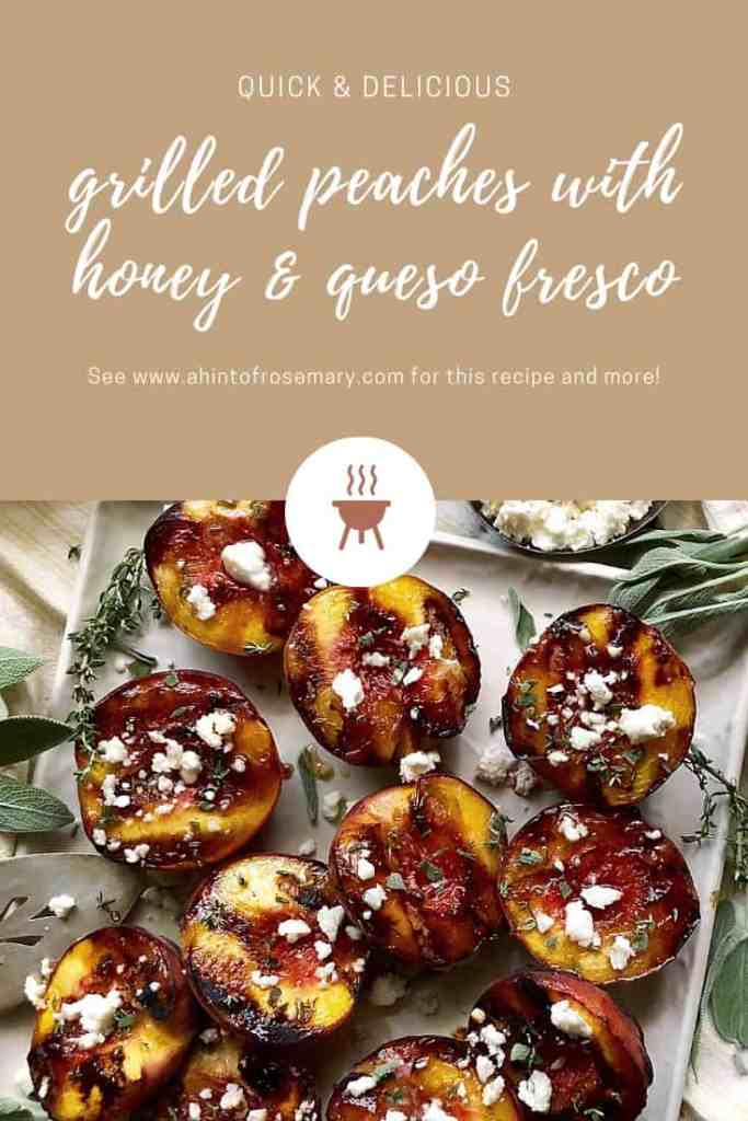 grilled peaches with honey & queso fresco