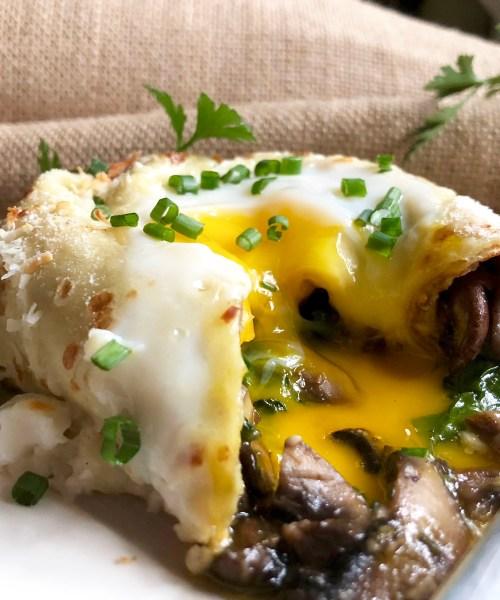 savory crepe rolls