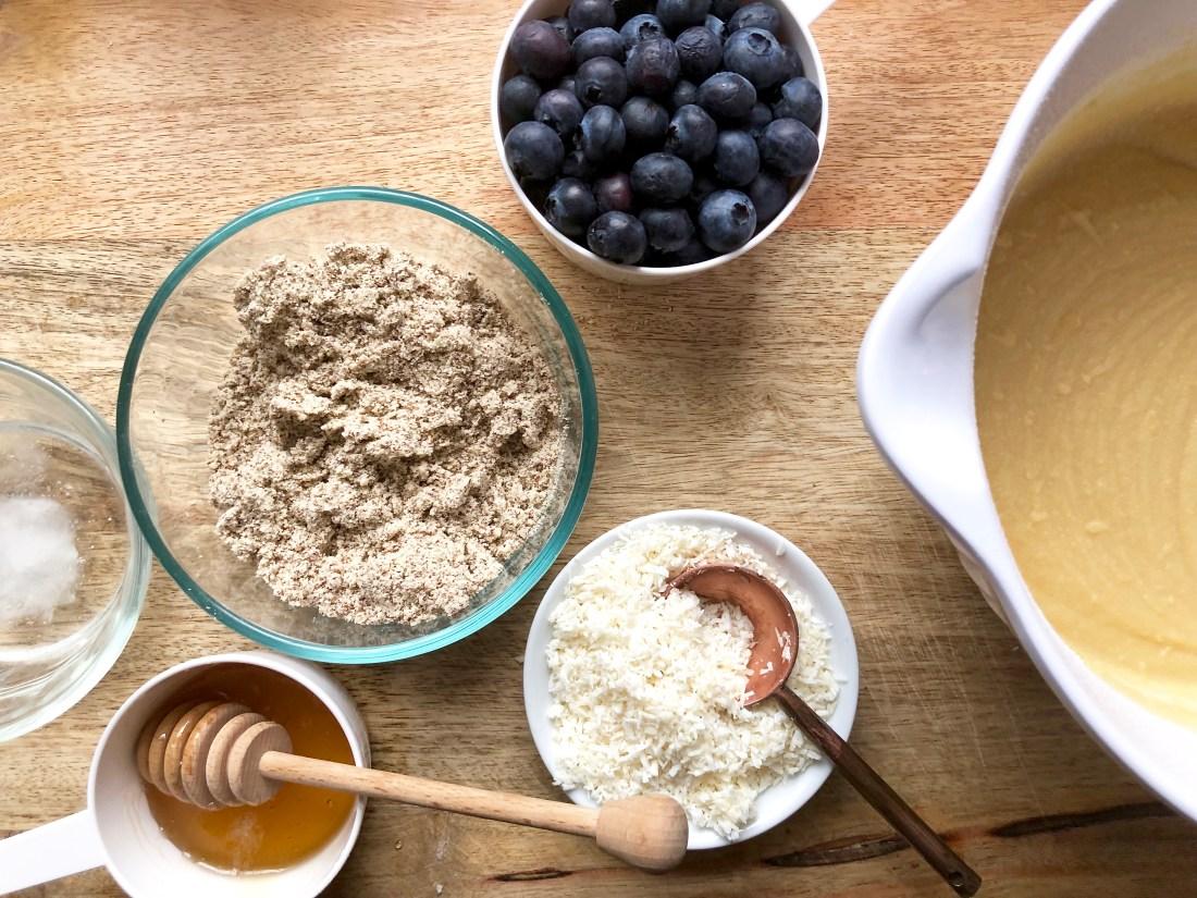 gluten-free coconut flour blueberry muffins