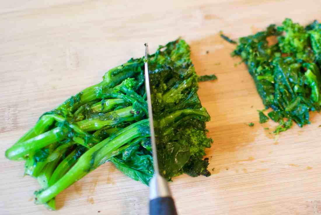 broccoli rabe, potato & rosemary pizza