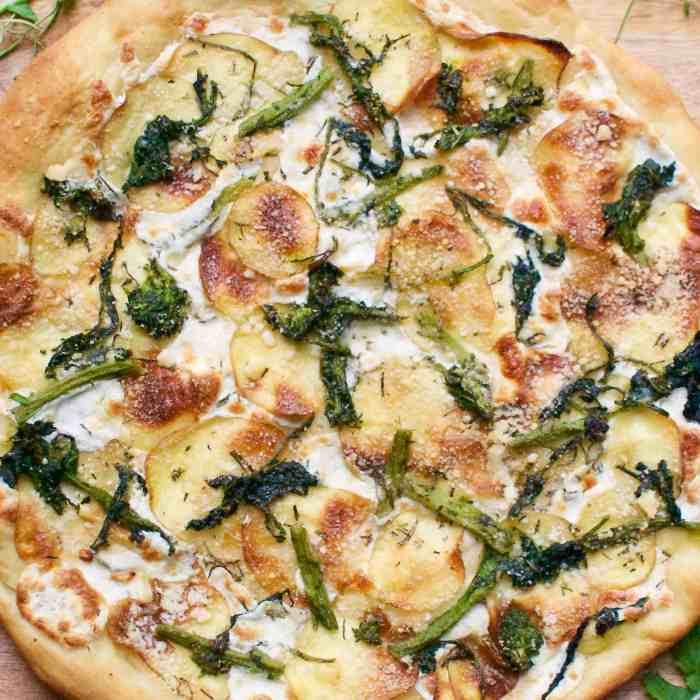 broccoli rabe, potato & rosemary pizza