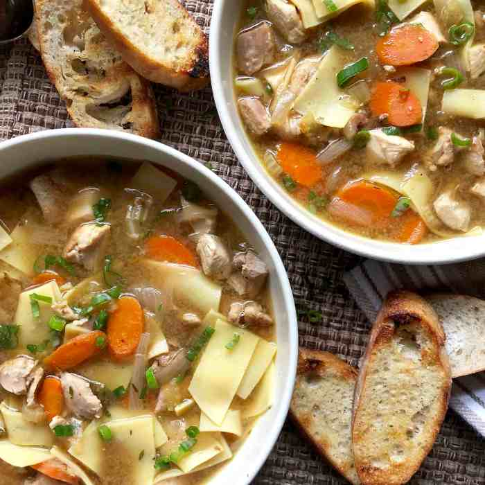 quick & rich chicken soup with fresh noodles