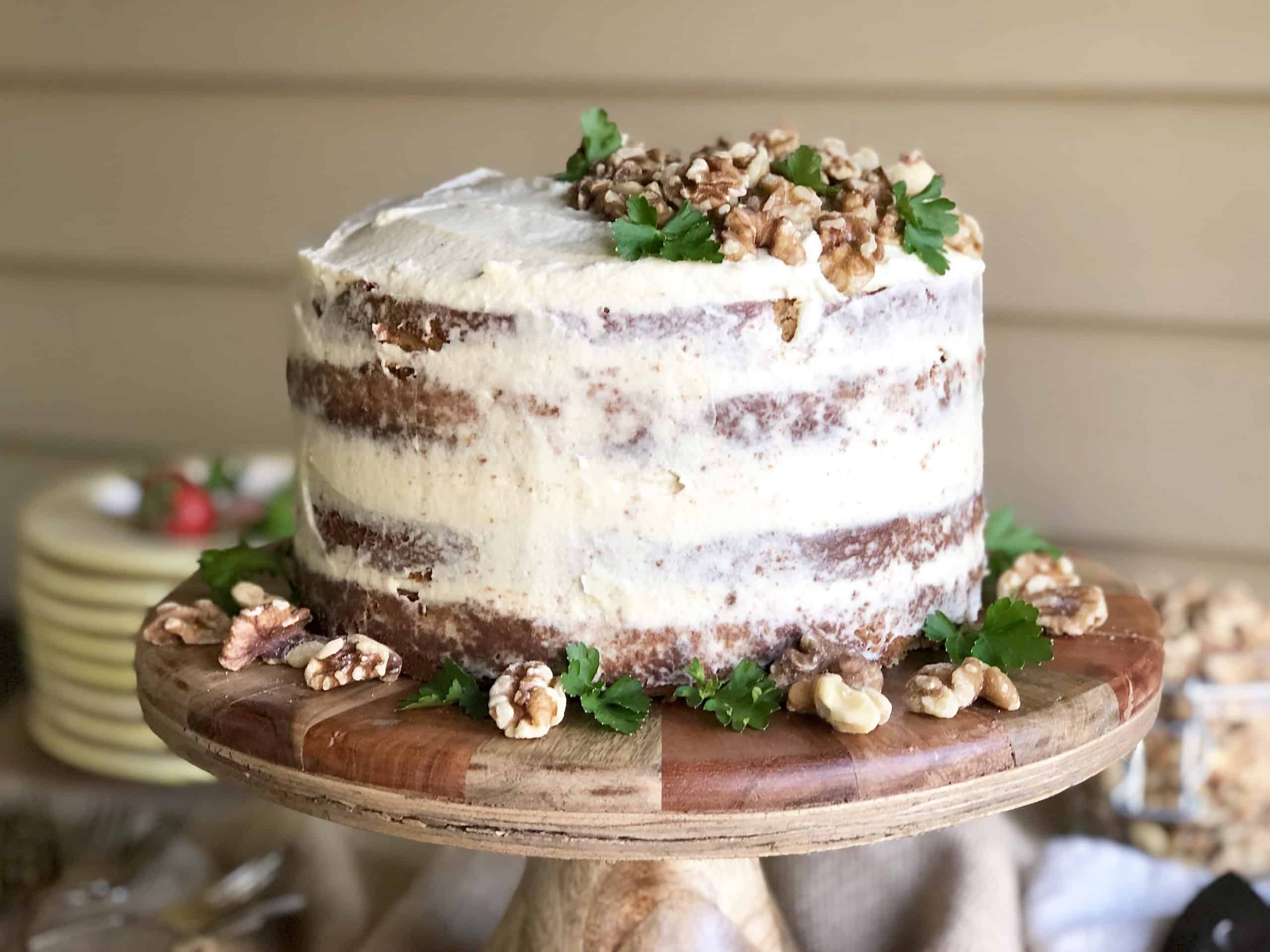 julia's walnut cake with french butter icing