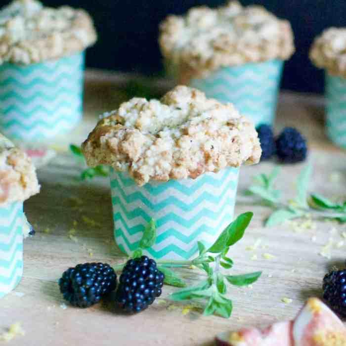 blackberry, lemon & thyme muffins