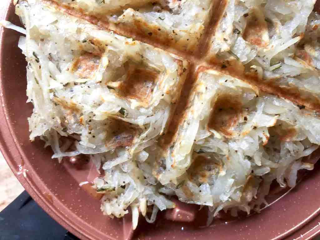 waffled hash browns with rosemary