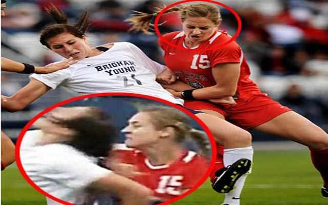 أعنف لاعبة كرة قدم في العالم إليزابيت لامبرت