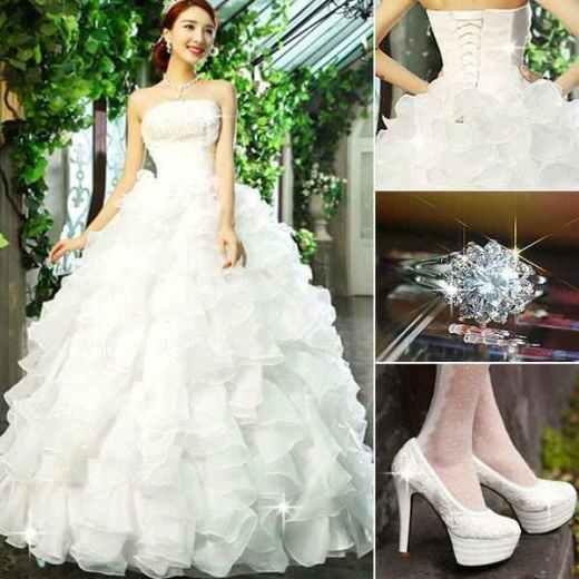 بالصور اجمل فساتين زفاف