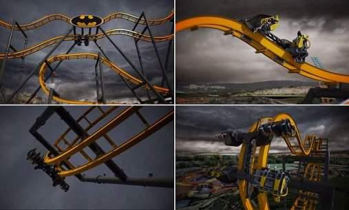 فيديو قطار الموت باتمان هو القطار الأكثر رعباً في العالم