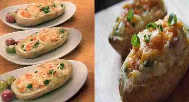 """بطاطس مشوية ومحشية بالخضار من """"منال العالم"""""""